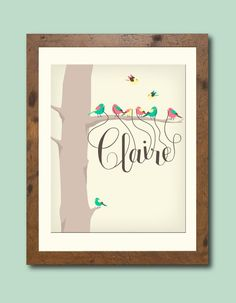 Personalized children's/ nursery art print by HenryJamesPaperGoods, $32.00  ANOTHER FAVORITE, SO ADORABLE!!!
