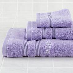 Fresh Start Bath Towels (Lavender)    The Land of Nod