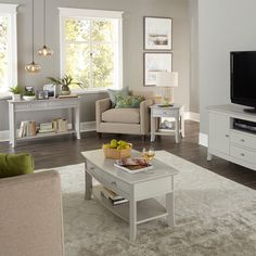 The tapered tops and open shelves of our Laurel Occasional Collection are a great addition to this living room! Solid Wood Furniture, Custom Furniture, Online Furniture, Table Furniture, Living Room Furniture, Furniture Design, Open Shelving, Entertainment Center, End Tables