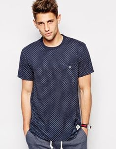 Jack Wills - Camberwell T-Shirt in Polka Dot with Pocket