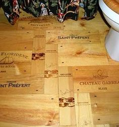 Might try to incorporate wine box panels into floors