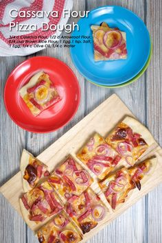 Cassava Flour Pizza Dough A very quick and easy to prepare gluten-free crust that surely Gluten Free Crust, Gluten Free Pizza, Thin Crust Pizza, Pizza Dough, Cassava Flour Recipes, Arrowroot Flour, Allergy Free Recipes, Paleo Dinner, Holiday Recipes