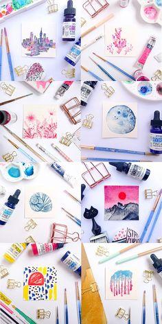 Fox & Hazel: June Watercolour Challenge