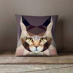 New cheap pet gift uploaded at SketchGrowl: Personalized Geometric Main Kun Cat Pillowcase Personalized Pillow Cases, Custom Pillow Cases, Throw Pillow Cases, Gifts For Pet Lovers, Pet Gifts, Cat Lovers, Small Pillows, Decorative Throw Pillows, Diy Pillows