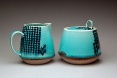 Stephanie Galli cream & sugar set ceramic 2013 MFA Ceramics