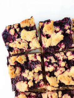 Blackberry Oat Crumb Bars Gluten Free Vegan