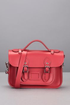 Leather bags - minna1121mbn10101 - Red/Burgundy - The Cambridge Satchel Company