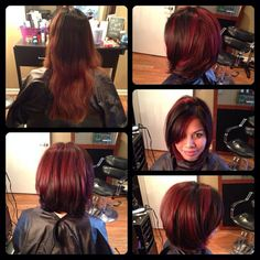 Before and after, red red highlights, bob haircut Source by haleyjoelemme. Before And After Haircut, Red Highlights, Hairstyles Haircuts, Style Me, Hair Cuts, Bob, Hair Beauty, Long Hair Styles, Beautiful
