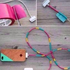 Redesign your cords with duct tape  DIY