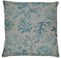 Love the embossed coral branches on these custom made pillows!
