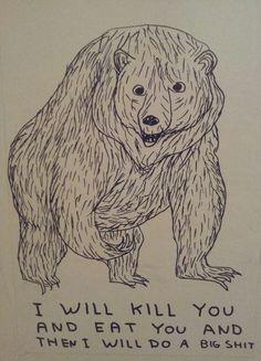 David Shrigley bear