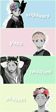 mom squad 💘 thank you for teaching me so much about editing and I wouldn't be improving in my editing without you, so thank you so much! Haikyuu Iwaizumi, Haikyuu Yaoi, Haikyuu Funny, Haikyuu Ships, Anime Guys, Manga Anime, Kagehina Cute, Memes, Daisuga