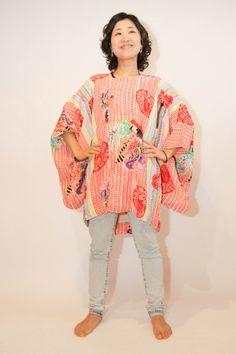 Color Delight Japanese vintage kimono jacket michiyuki by CJSTonbo, $45.00
