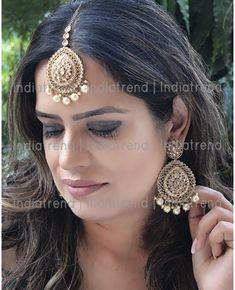 Fashion Jewelry Devoted Peach Gold Indian Bollywood Head Hair Chain Tika Tikka Bindi Jewellery New Gift Jade White Jewelry & Watches