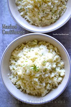 Mashed Cauliflower | FoodForYourGood.com #mashed_cauliflower