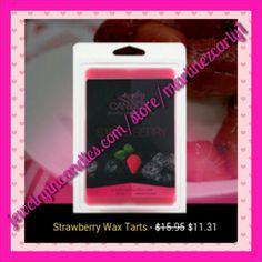 Strawberry wax tart