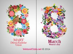 Vektörel Çizim | 8 March International Women's Day