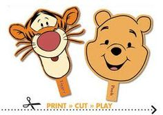 tigger and pooh masks idea for photo booth
