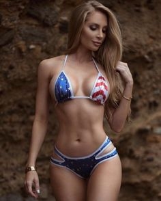 Amanda Lee amandaeliselee on April 2016 Sexy Bikini, Bikini Babes, Bikini Beach, Flag Bikini, Patriotic Bikini, Bikini Pics, Bikini Top, Amanda Lee, Sexy Lingerie