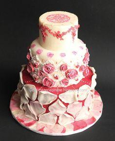 Marie Antoinette style cake