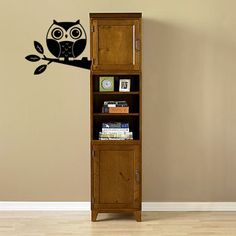 Cute Baby Owl Wall Decal from Beautiful Wall Decals. I love owls. This is an adorable way to get an owl into my decor.