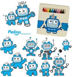 Character Exploration by P'kolino creative team. @P'kolino (pee-ko-lee-no); Playfully Smart! #pkolino #robots