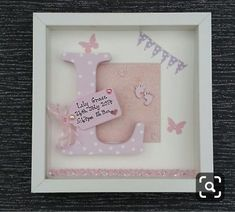 Baby Girl Cards, Baby Boy Gifts, Ikea Picture Frame, Picture Boxes, Christening Gifts For Girls, Baby Christening, Shadow Frame, Shadow Box, 3d Box Frames