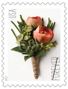 USPS Stamps TBI 2017 Celebration Boutonniere This New Forever Stamp Is Similar In Design To The Two Ounce