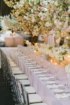 Custom cherry blossom trees for centrepieces by Rachel A. Clingen.wedding-flowers-toronto-grand-luxe