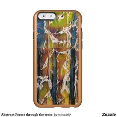 Abstract Forest through the trees Incipio iPhone Case Unique Iphone Cases, Iphone 6 Cases, Wood Charcoal, Cool Cases, Front Design, Green And Orange, Artwork Design, Blue Gold, Green Colors