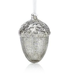 Silver Glass Acorn Tree Decoration