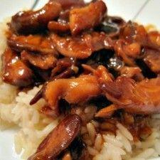 crockpot chinese! honey bourbon chicken