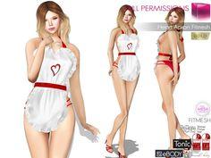 67ae4dc651a Full Perm MI Heart Apron Fitmesh Slink Maitreya Belleza Tonic TMP Ebody  Hourglass