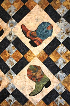 Western Rodeo Ranch 'Boot Scootin' Homemade by MyCharmingQuilts Lap Quilts, Panel Quilts, Quilt Blocks, Westerns, Southwestern Quilts, Ranch, Cowboy Quilt, Horse Quilt, Barn Quilt Patterns