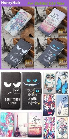 Hot! Cartoon Pattern PU Leather Cover Case Flip Card Holder Cover For Oukitel U16 Max Wallet Phone Cases