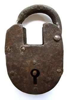 Antique Hand Forged Oval Lock.  SOLD