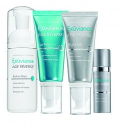 Exuviance Age Reverse - LOVE LOVE LOVE this line.  I use it with my clairsonic.  I have noticed an incredible reduction in my fine lines and some dry age spots.  They even have a mild chemical peel you can use weekly.  I got mine at Ulta