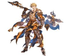 View an image titled 'Vane SSR Art' in our Granblue Fantasy art gallery featuring official character designs, concept art, and promo pictures. Granblue Fantasy Characters, Final Fantasy Characters, Fantasy Heroes, Fantasy Male, Fantasy Warrior, Dnd Characters, Game Character Design, Fantasy Character Design, Character Design References