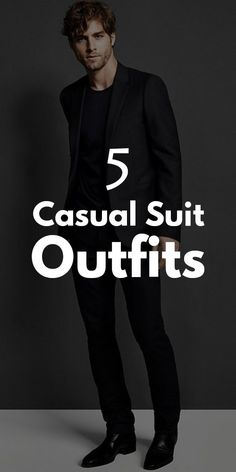 Casual Suit Outfits for Men