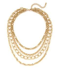 Lolita Jewelry-4 Row Multi Chain Bib Necklace by Lolita Jewelry