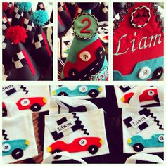 Custom vintage car party package by Shawna Brockmeier.