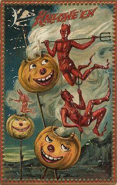 Vintage Dancing Devils