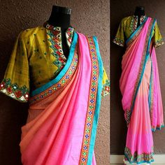 The Kutch Express takes shape in one more beautiful saree in jute fabric. Blouse is pure raw silk with Kutch handcraft  #PritiSahni #indiandesigner #indiandesigners #ilovesaree #sari #custommade #fashiondiaries #fashion #couture #contemporary #sareelove #sarees #100sareepact #elegance #textiles #handmade #fblogger #fbloggers #fashionblogger