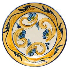 With painting-inspired designs, this charming earthenware plate brings artful appeal to your tablescape or china cabinet.   Product...