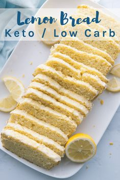 This Keto Lemon Bread recipe reminds me of Starbucks glazed lemon bread, but with a fraction of the carbs. This Keto Lemon Bread recipe reminds me of Starbucks glazed lemon bread, but with a fraction of the carbs. Low Carb Desserts, Low Carb Recipes, Dessert Recipes, Healthy Recipes, Health Desserts, Crockpot Recipes, Breakfast Recipes, Dinner Recipes, Pain Keto