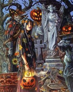 Trick or treat/ Halloween art- Illustration by Dan Brereton