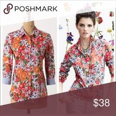 HD in Paris blouse Beautiful floral Hanalei blouse by HD in Paris for Anthropologie. 100% cotton. In excellent condition. No flaws. No trades. Anthropologie Tops Blouses