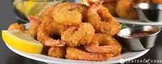 You will never believe how easy it is to make this Crispy Crunchy Fried Shrimp recipe right at home! Seasoned shrimp get lightly coated in a batter, then dipped in panko bread crumbs. Crunchy Fried Shrimp made right at home! Shrimp Recipes, Fish Recipes, New Recipes, Cooking Recipes, Favorite Recipes, Calamari Recipes, Popcorn Shrimp, Fried Shrimp, Comida Latina