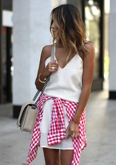 Sincerely Jules - Gingham + Chanel Boy Bag http://FashionCognoscente.blogspot.com