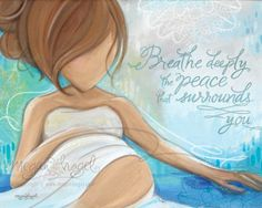 Look Inward – Maternity Art Print for Pregnancy, Birth, Mother, Baby, and Doula